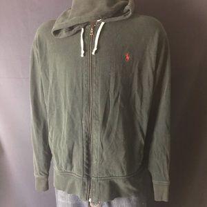 Polo Ralph Lauren Black Zip Up Sweatshirt